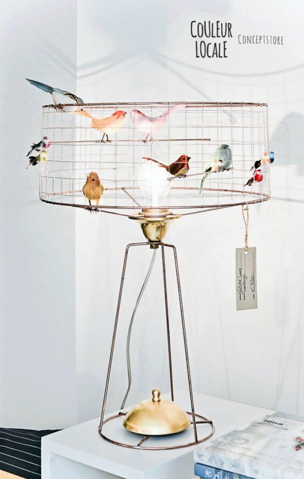 Lampe volière de Mathieu Challières