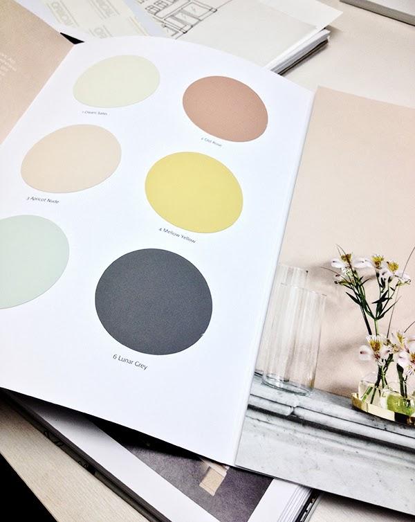 Palette de couleurs douces