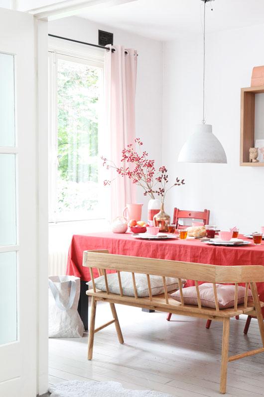 Décoration rose pastel