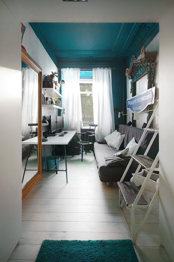Un Plafond Couleur Bleu Canard  Frenchy Fancy