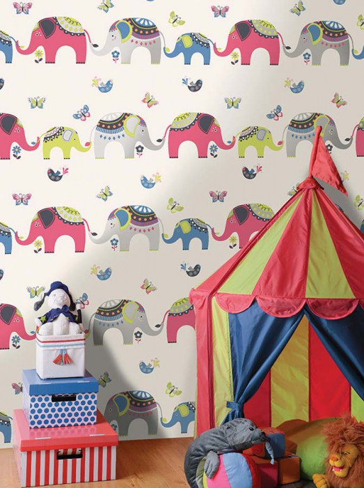du papier peint pour une chambre d 39 enfant frenchy fancy. Black Bedroom Furniture Sets. Home Design Ideas