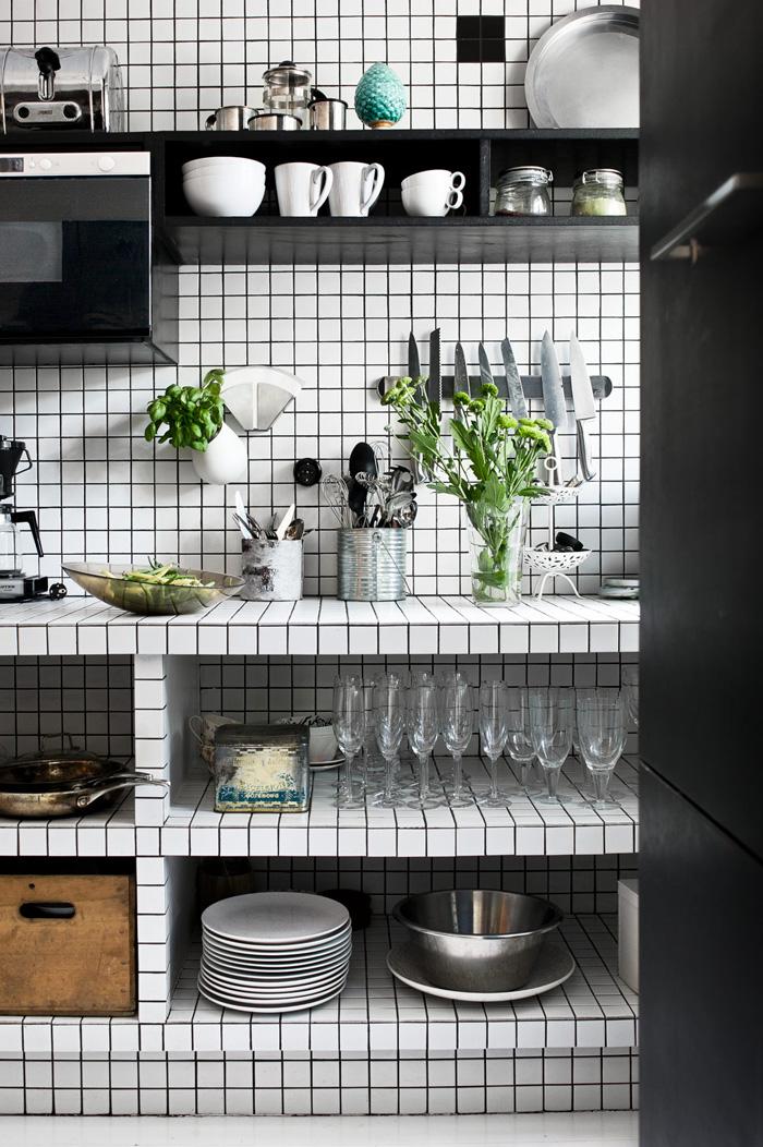 Inspiration une cuisine en noir blanc frenchy fancy - Cuisine en noir et blanc ...