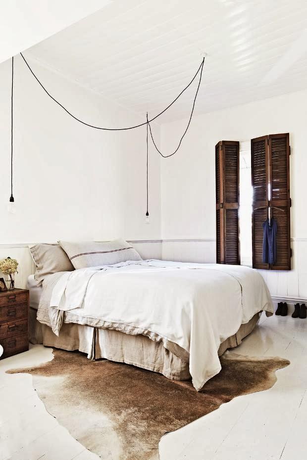 Chambre style ethnique vintage