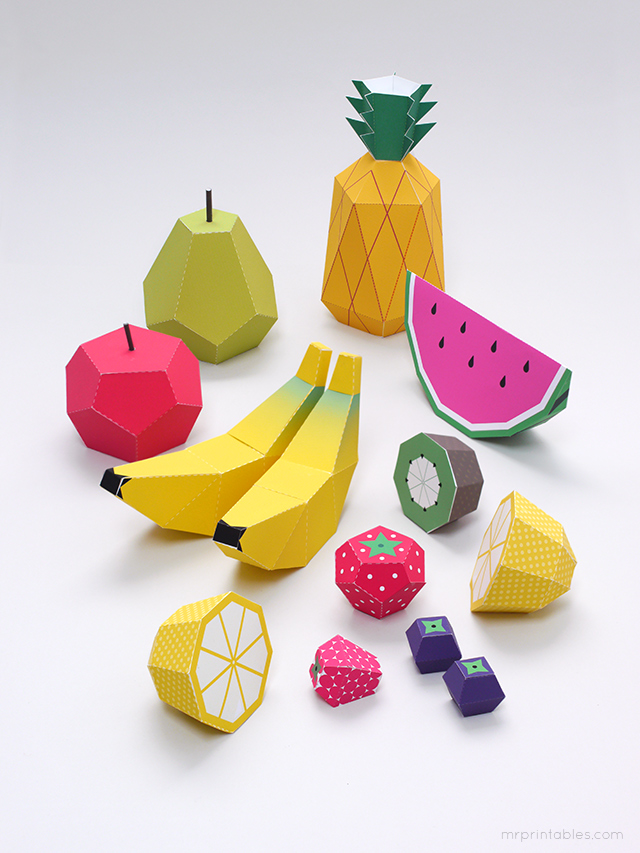 DIY fruits en papier