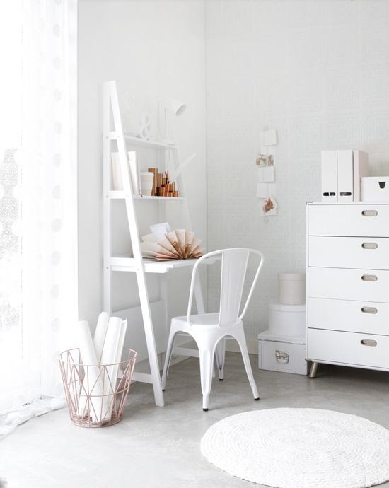 Chaise Tolix blanche