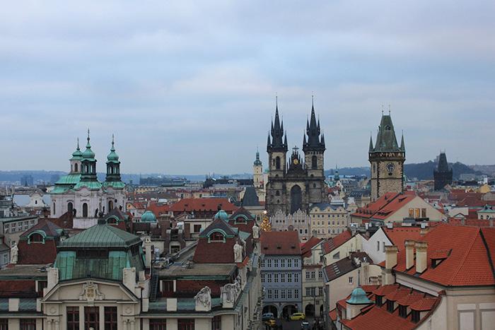 Vue sur Prague depuis la Tour astronomique