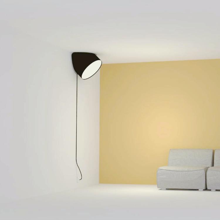Lampe Muuto et mur  jaune