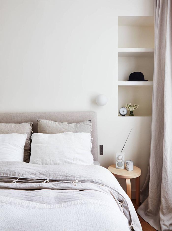 Linge de lit en lit couleur pastel