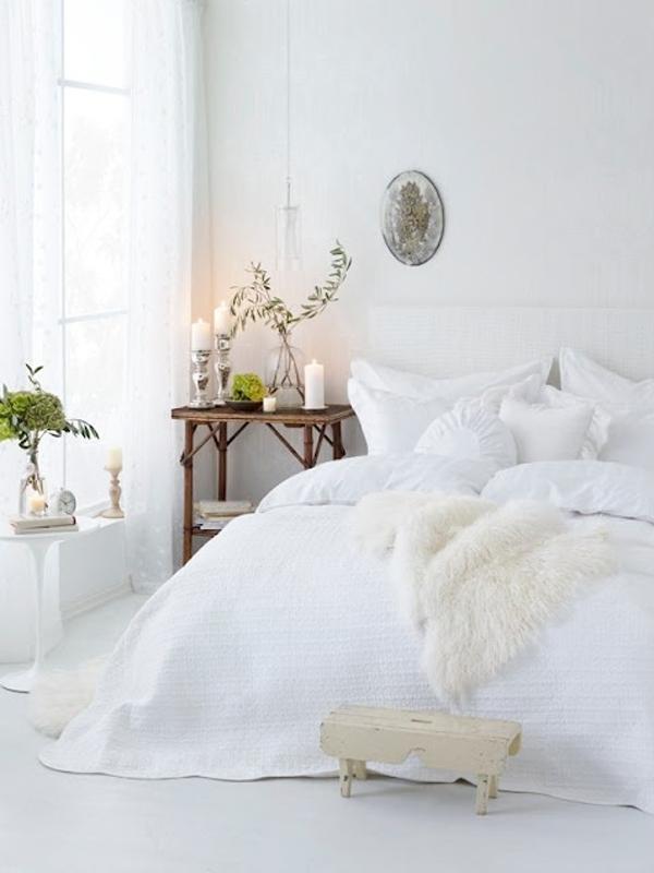 Peau d'agneau dans une chambre