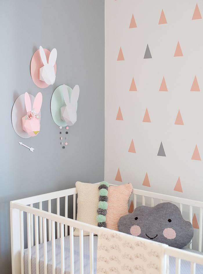 Des lapins dans la chambre de b b frenchy fancy - La chambre de bebe ...