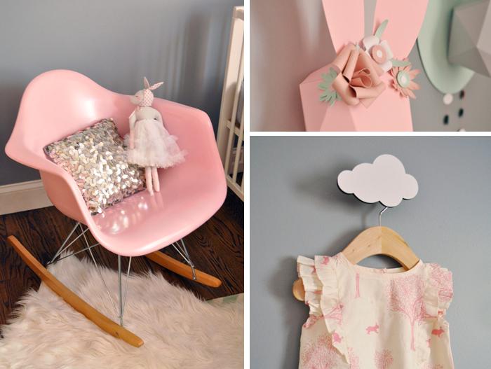 des lapins dans la chambre de bébé - frenchy fancy - Chaise A Bascule Eames