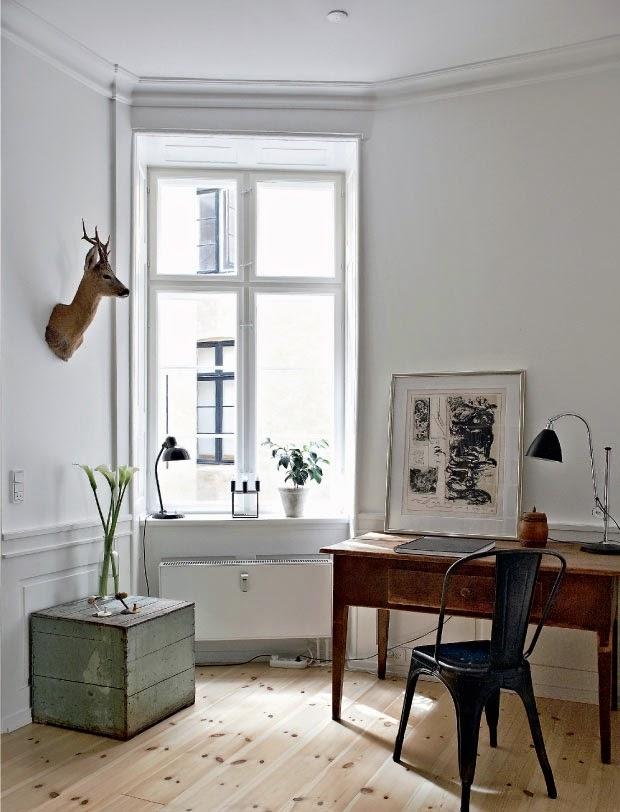 Bureau dans appartement haussmannien