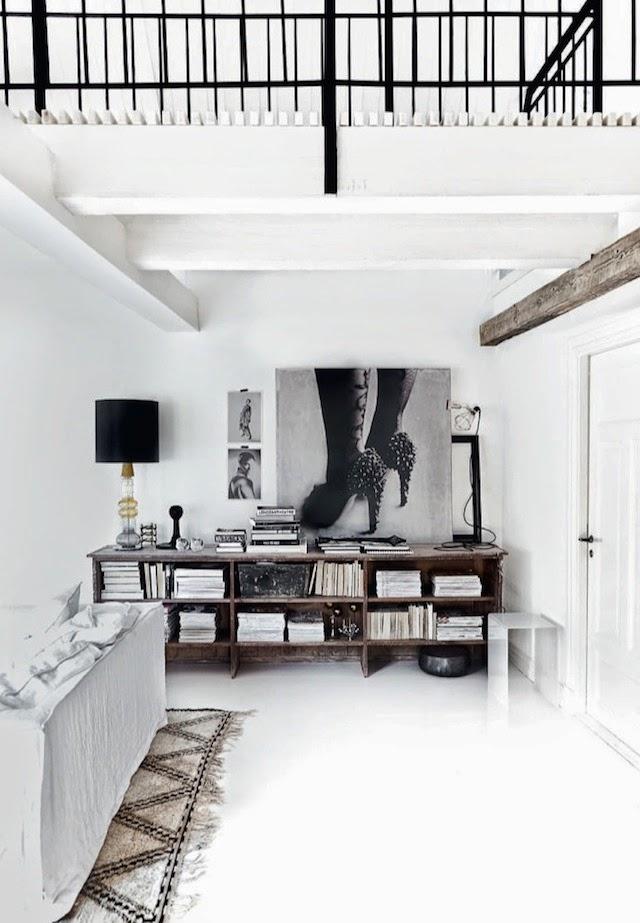 Le design scandinave en noir et blanc