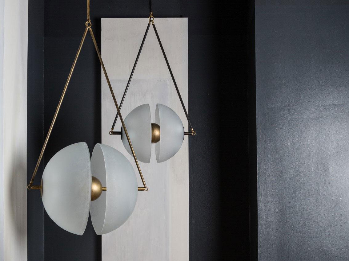 Luminaire design en laiton