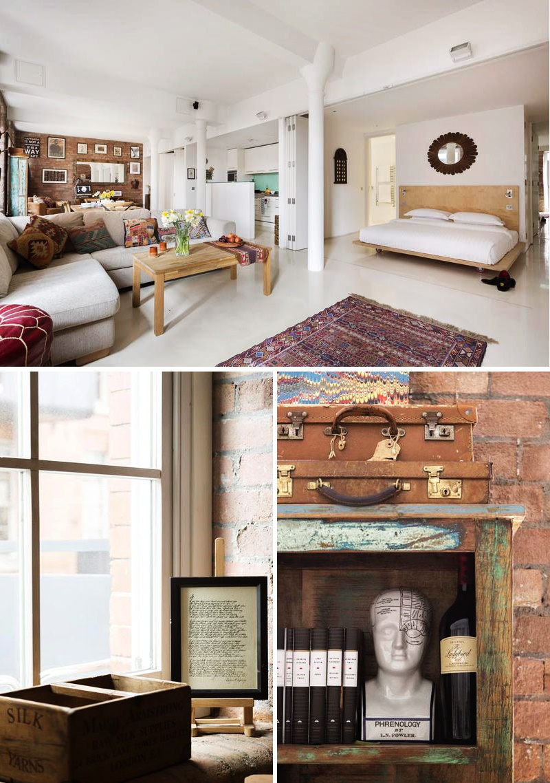 Décoration éclectique avec du mobilier vintage et contemporain