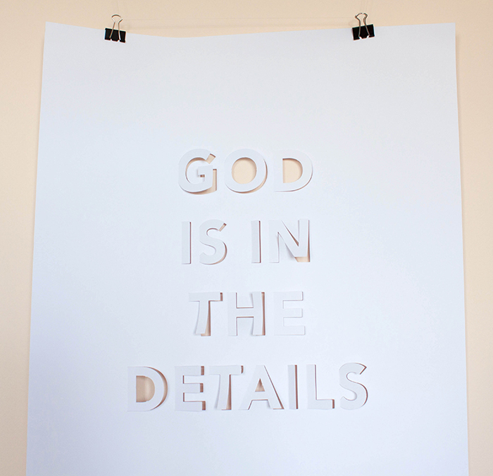 Affiche God in the details by Cinq points