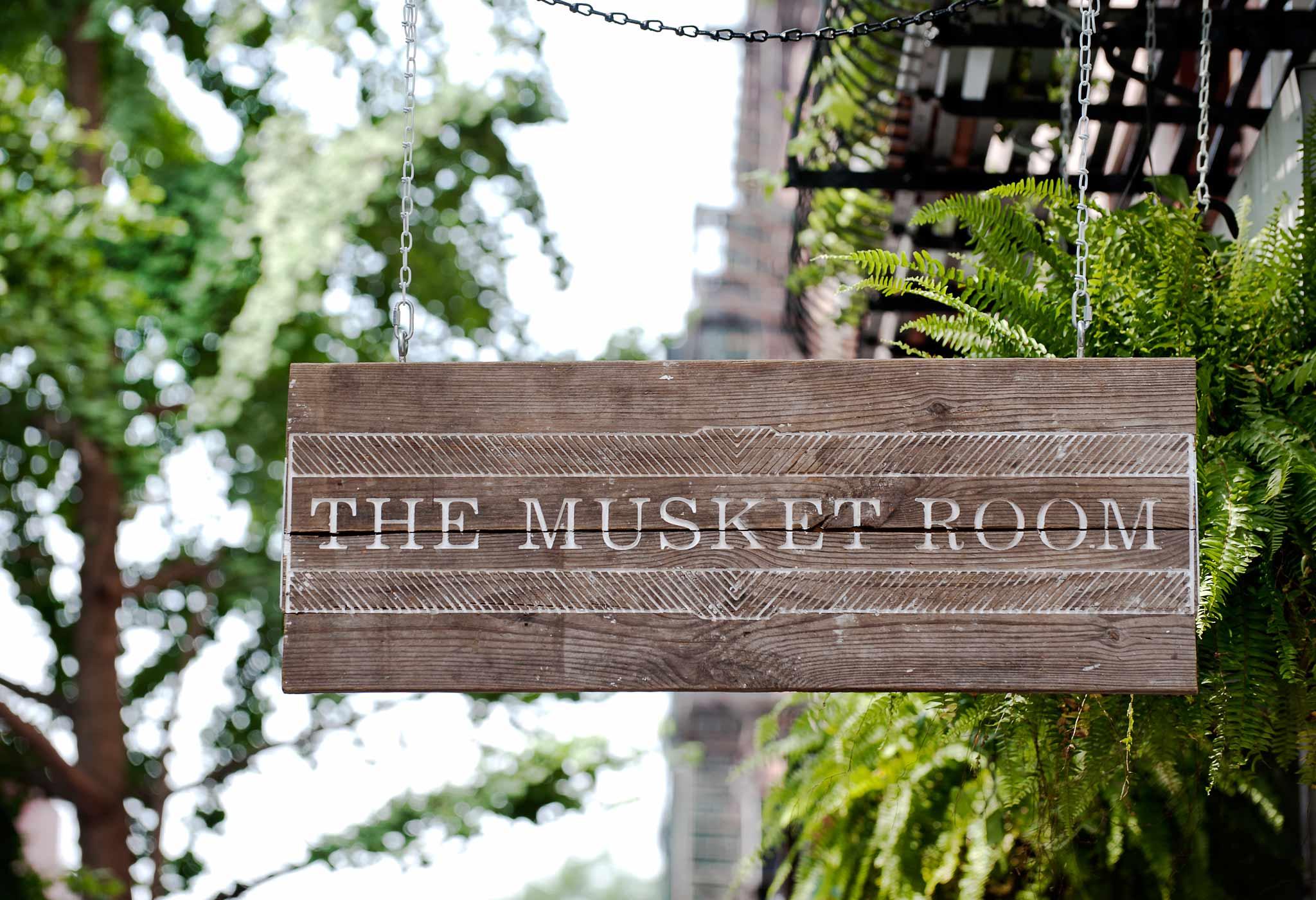 La terrasse aménagée du Musket Room à NYC