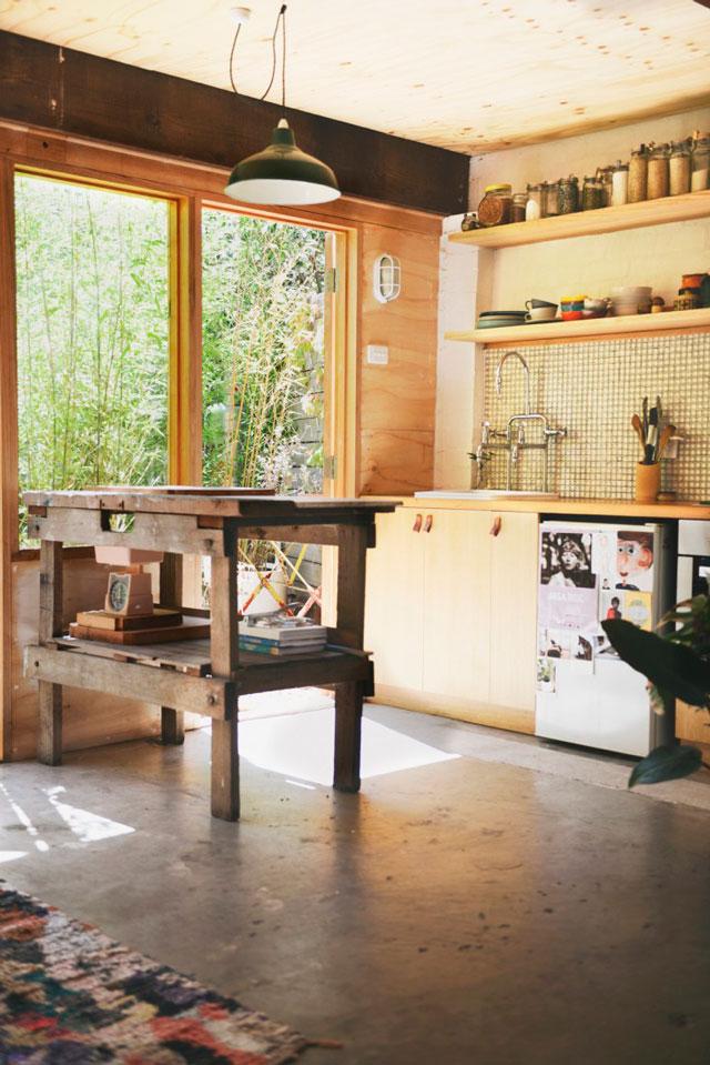 Cuisine en bois contemporaine