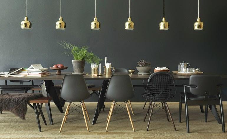Suspension Alvar Aalto et chaises Eames