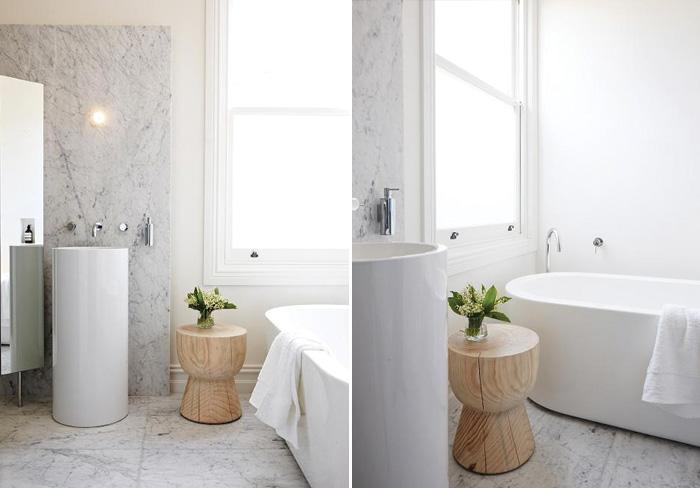 Cuisine salles de bain par jane cameron architects frenchy fancy - Salle de bain marbre blanc ...