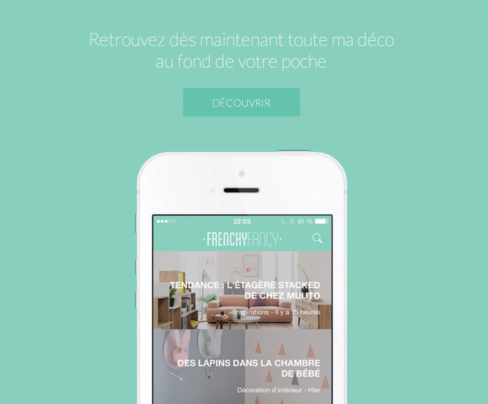 Application blog décoration