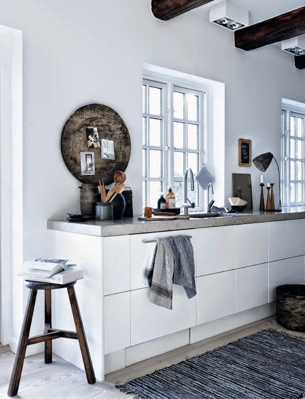 Tendance déco récup et brocante dans une cuisine