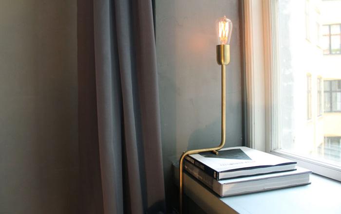 Luminaire en laiton doré