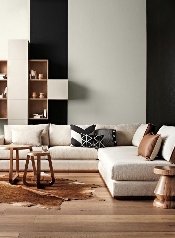 Interieur en noir et blanc