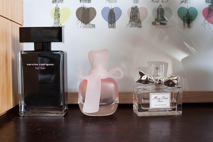 Parfums Narciso Rodriguez, Nina Ricci et Dior.