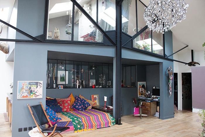 visite priv e le loft boh me de zo sculpteur frenchy fancy. Black Bedroom Furniture Sets. Home Design Ideas