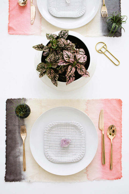 DIY set de table tie & dye
