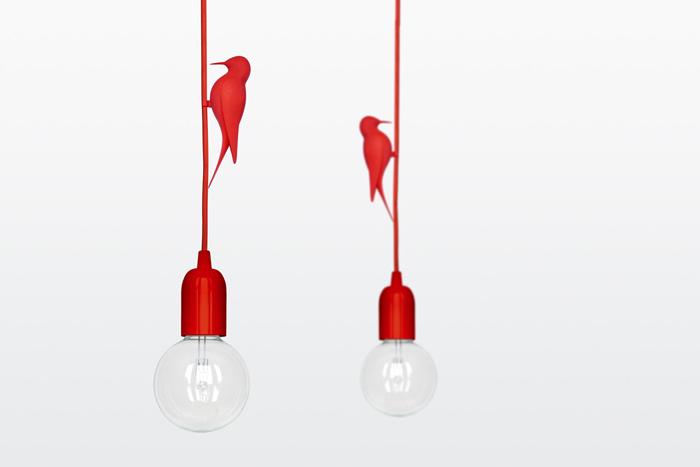 Suspension oiseau design