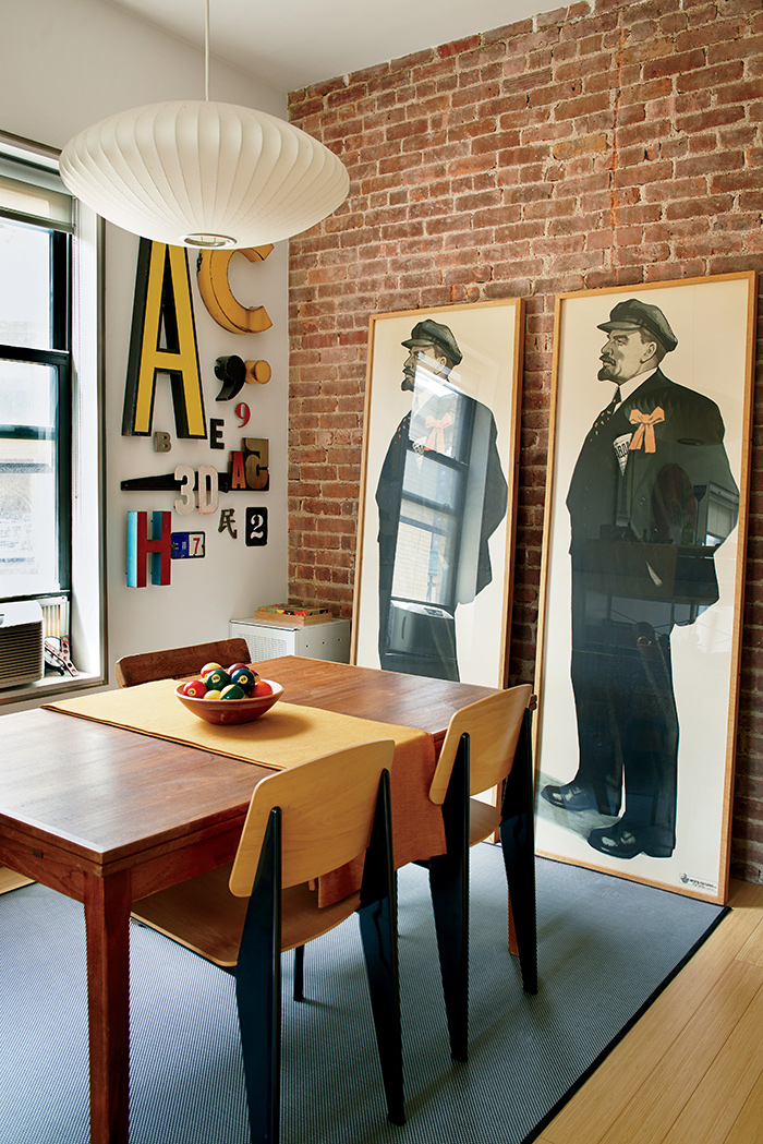 Style vintage manhattan frenchy fancy - Mur brique rouge loft ...