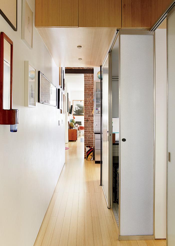 Loft à Manhattan avec mur en briques rouge