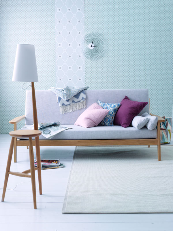 Inspiration salon bleu pastel