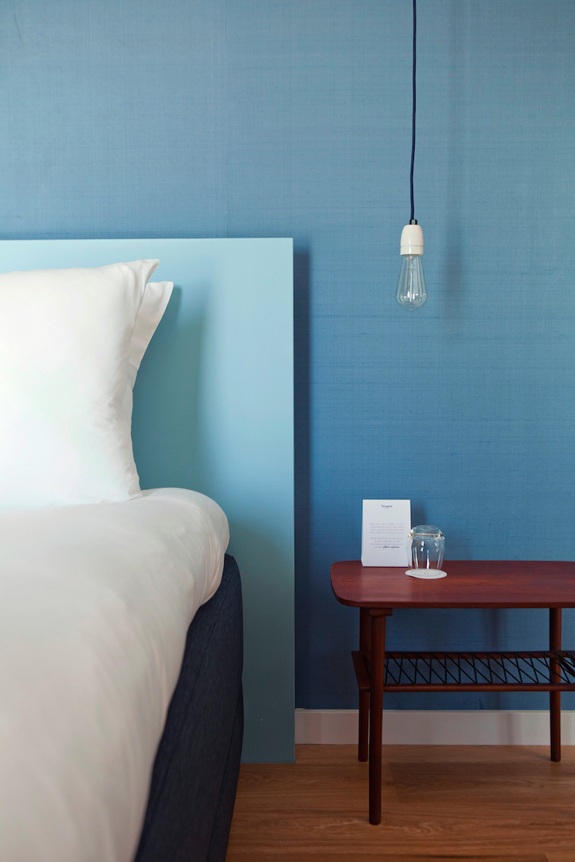 Chambre en dégradé de bleu