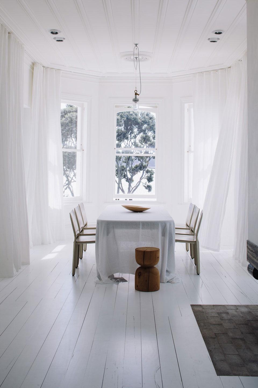 Rideaux en lin blanc