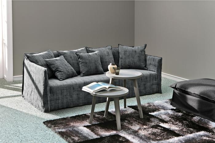 Canapé en lin gris anthracite