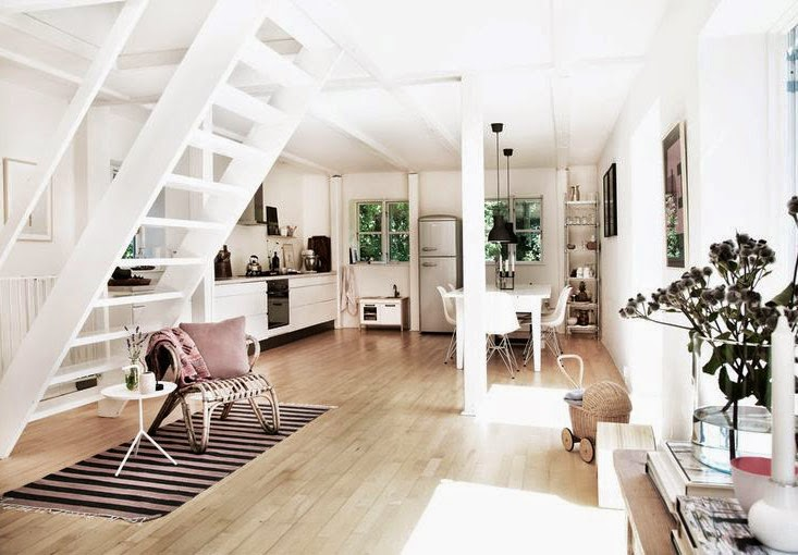 Une maison de campagne scandinave frenchy fancy - Decoration interieur maison de campagne ...