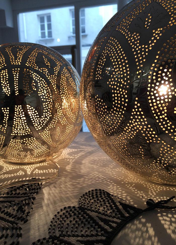 Lampe orientale en cuivre