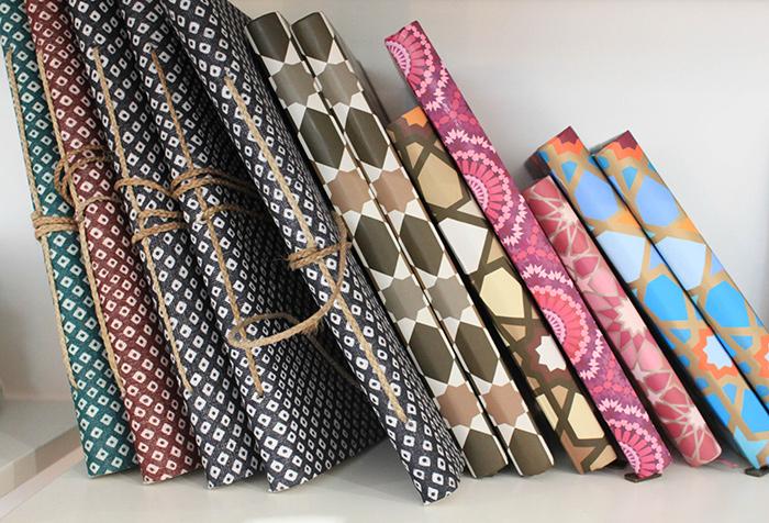 Carnets motifs colorés