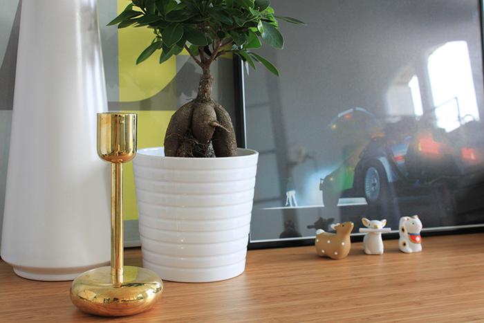 ougeoir Iittala doré vintage chiné à Helsinki