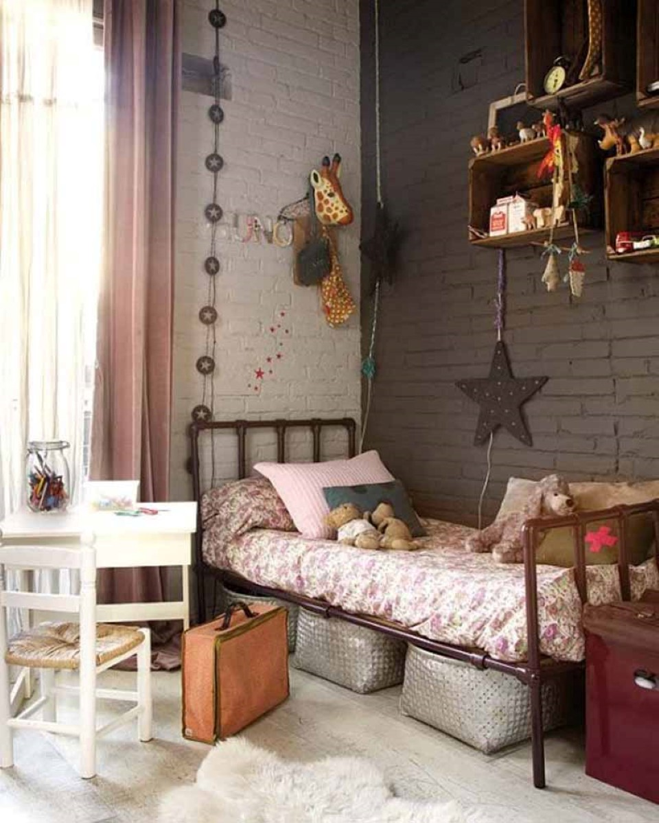 Inspiration chambre fille style industriel