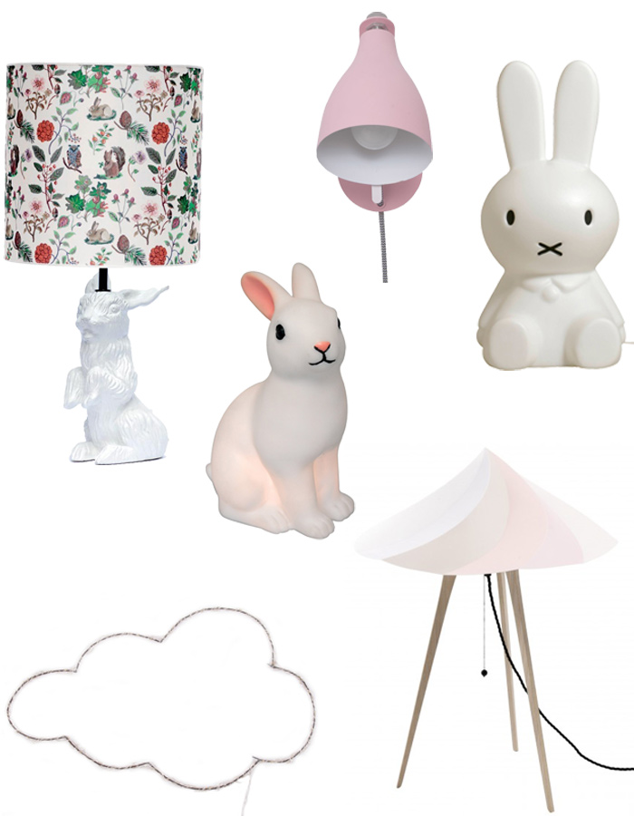 6 jolies lampes pour la chambre de Baby Girl