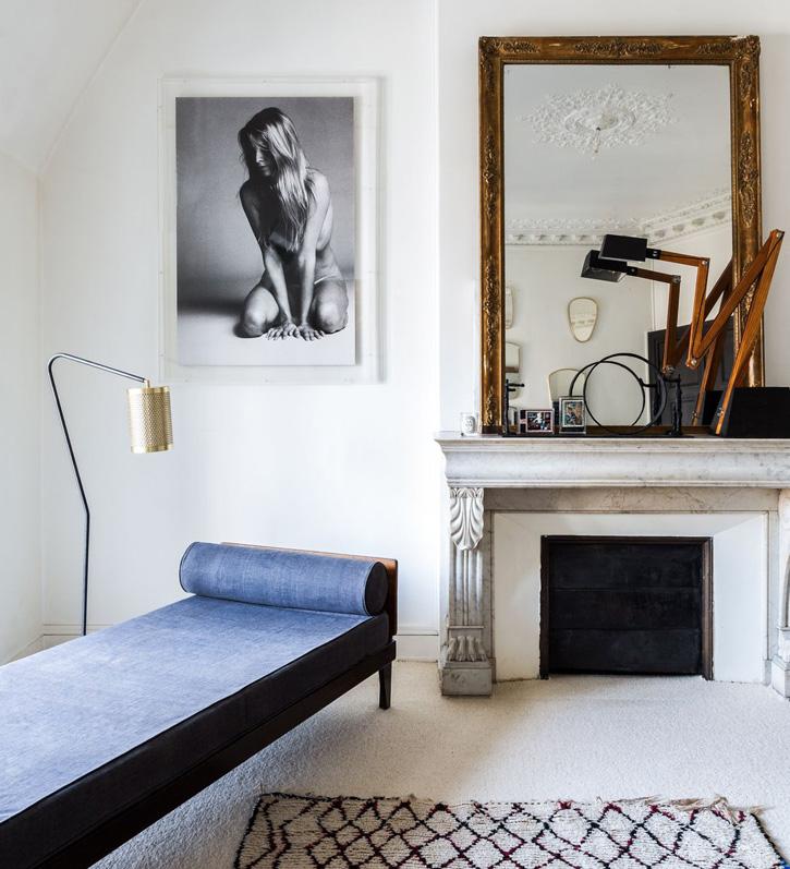 Cheminée en marbre appartement haussmannien