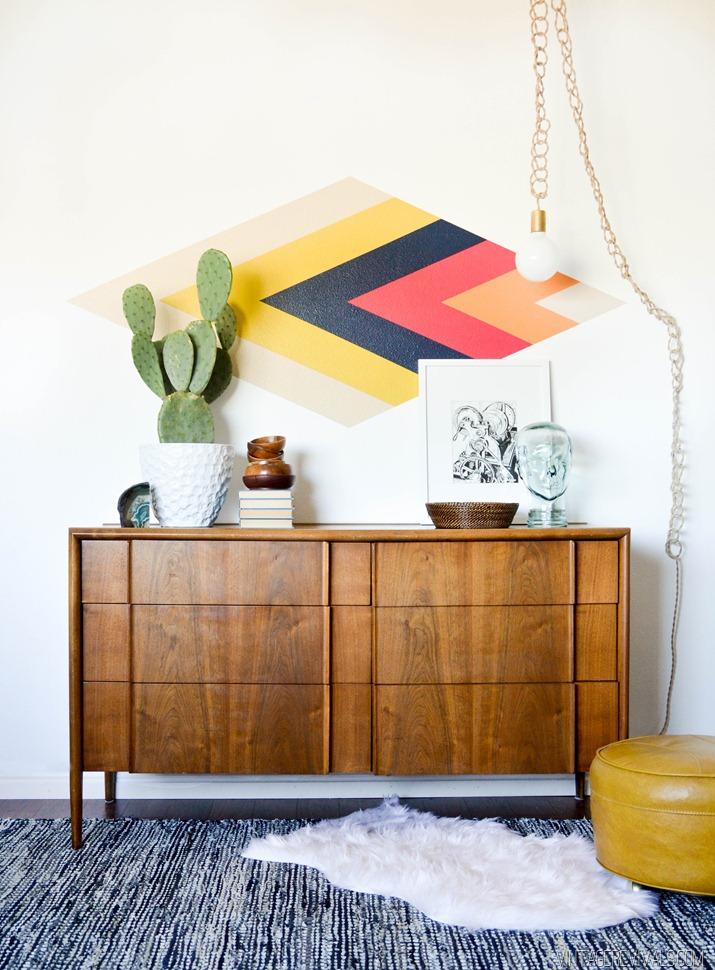 Peindre des formes géométriques sur ses murs