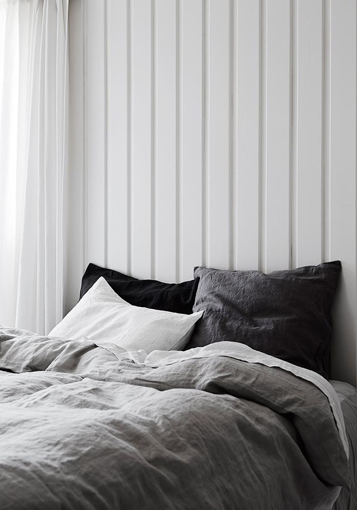 Inspiration poudrée pour du linge de lit