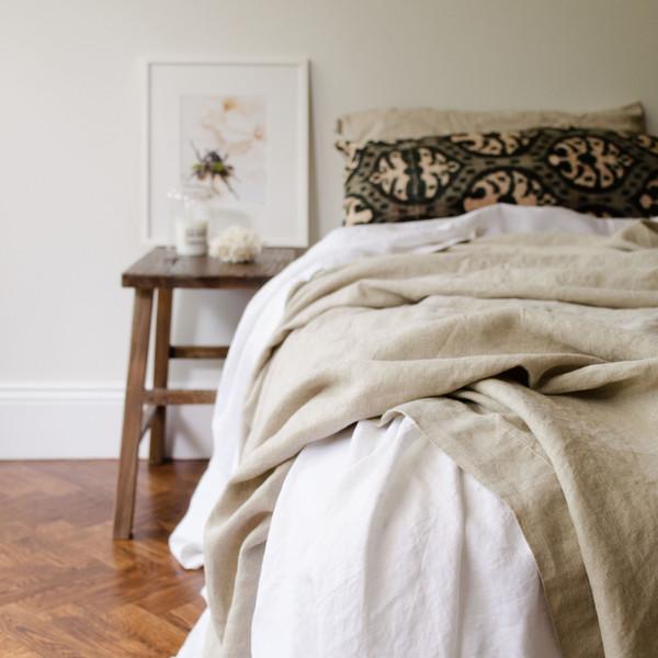 Parure de lit en lin froissé