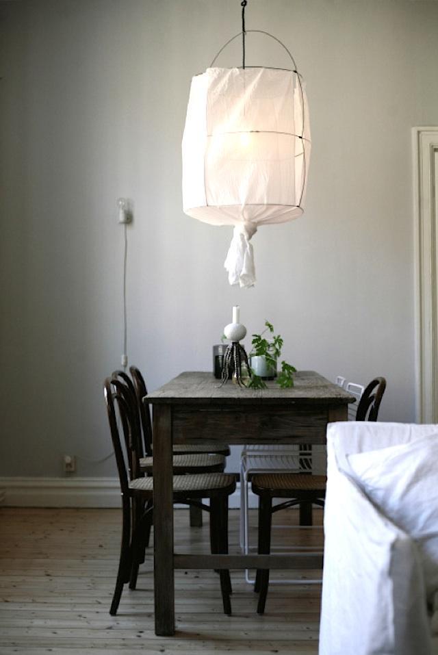 Luminaire en lin DIY