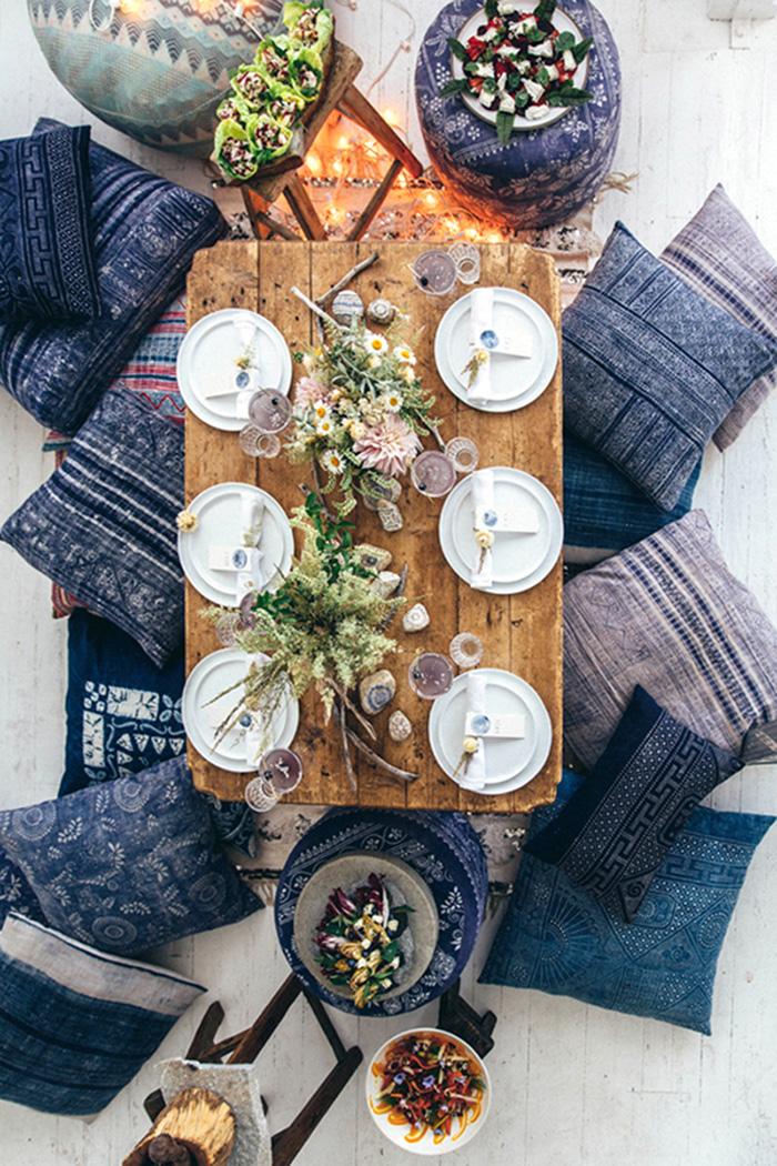 Art de la table style ethnique